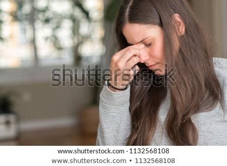Bastante morena dor de cabeça branco projeto beleza Foto stock © wavebreak_media