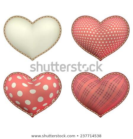 Heart-shaped soft toy set isolated. EPS 10 Stock photo © beholdereye