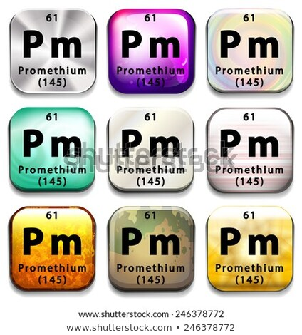 A button showing the element Promethium Stock photo © bluering