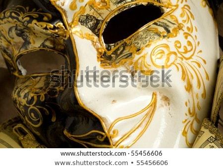 Typical Vintage Venetian Mask Venice Italy Stock fotó © Francesco83