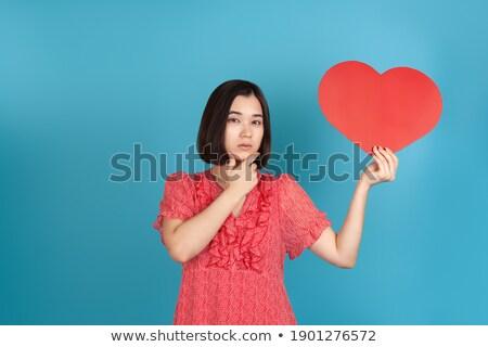Mujer mano amantes barbilla Pareja Foto stock © feedough