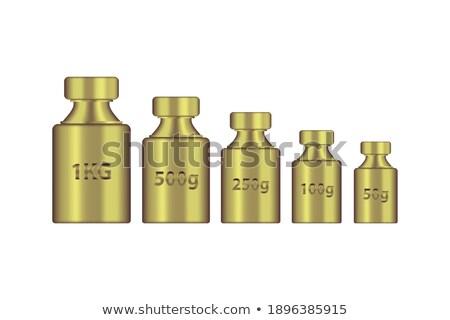 Vetor dourado peso balança coleção projeto Foto stock © adrian_n