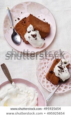 Bittersweet Chocolate Semifreddo Сток-фото © zoryanchik