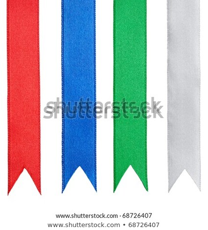 Shiny purple satin ribbon on white background Stock photo © fresh_5265954