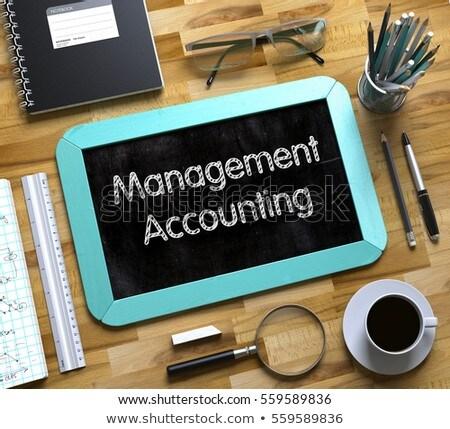 Data Management on Small Chalkboard. 3D. Stock photo © tashatuvango