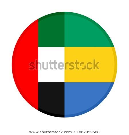 Futball lángok zászló Egyesült Arab Emírségek fekete 3d illusztráció Stock fotó © MikhailMishchenko