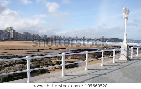 Gijon playa San Lorenzo beach Asturias Spain Stock photo © lunamarina
