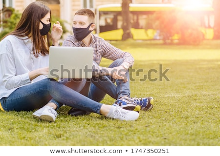 Couple of students at the park stock photo © Minervastock