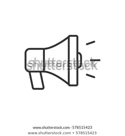 Tanıtım vektör ikon doğrusal stil Stok fotoğraf © robuart