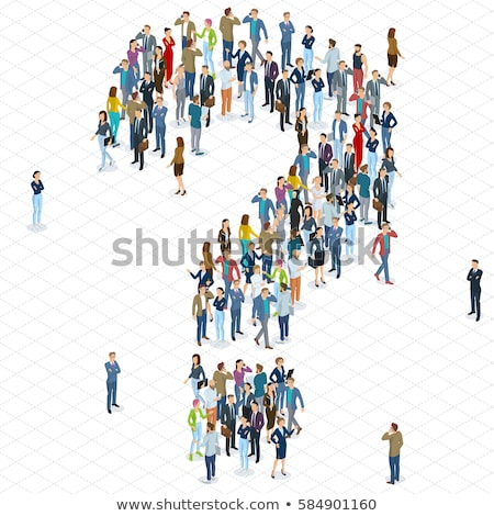 3d business woman standing with question mark Stock photo © 3dmask