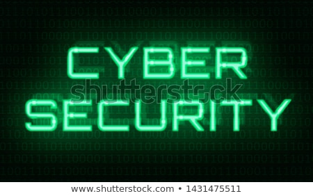 binary code with the words cyber security in the center stock photo © zerbor