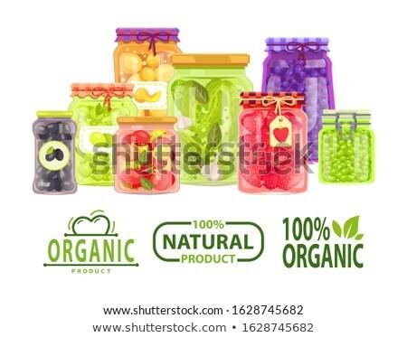 Organique 100 pour cent naturelles repas préservé Photo stock © robuart