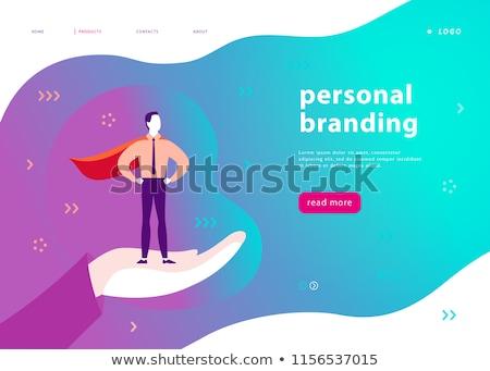 Merk identiteit landing pagina sjabloon corporate Stockfoto © RAStudio