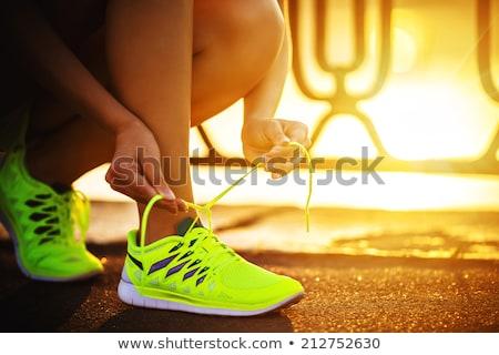 Stockfoto: Runner · loopschoenen · klaar · race · lopen