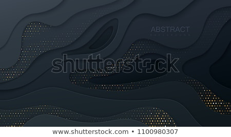 Preto dourado ondulado forma projeto abstrato Foto stock © SArts