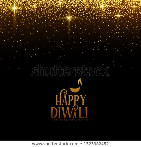 beautiful happy diwali sparkles and golden glitter background Stock photo © SArts