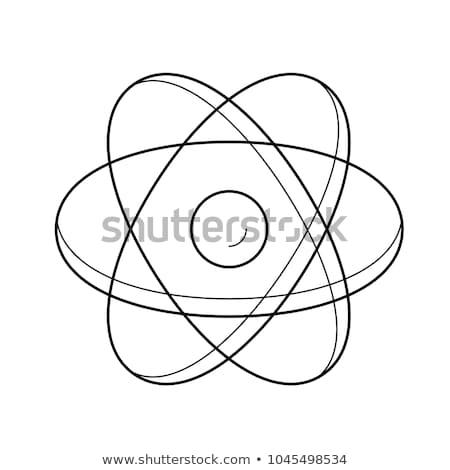 Atome structure modèle mains main noyau Photo stock © vapi