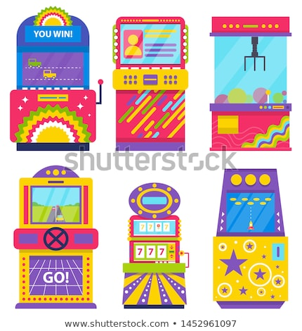 Game Over and Start Pixel, Vintage Arcade Machine Stock photo © robuart