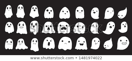 spooky halloween scary banner with ghost face Stock photo © SArts