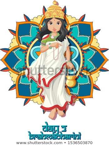 Navarati poster with goddess Stock photo © bluering