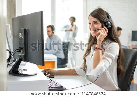 секретарь интернет иллюстрация женщину служба телефон Сток-фото © adrenalina