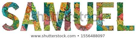 Masculino nome vetor decorativo objeto arte Foto stock © Natalia_1947