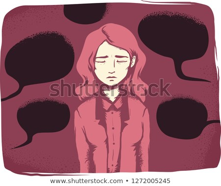 Girl Verbal Harassment Illustration Stock photo © lenm