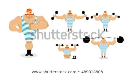 Circo atleta pesos mãos esportes corpo Foto stock © jossdiim