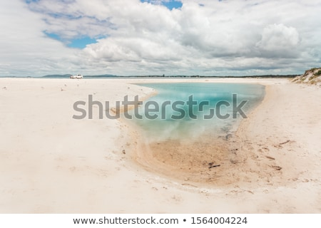 Sand dunes and waterholes of Port Stephens Stock photo © lovleah