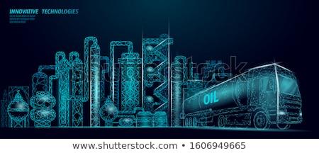 Paliwa gospodarki ludzi ceny gazu samochody Zdjęcia stock © RAStudio