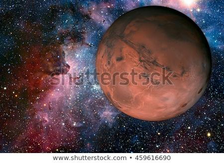 Zonnestelsel vierde planeet zon dun atmosfeer Stockfoto © NASA_images