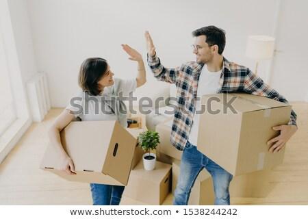 Fotó férj feleség expressz megállapodás szállít Stock fotó © vkstudio
