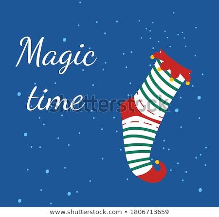 Elfo natal venda cartão inverno férias Foto stock © robuart