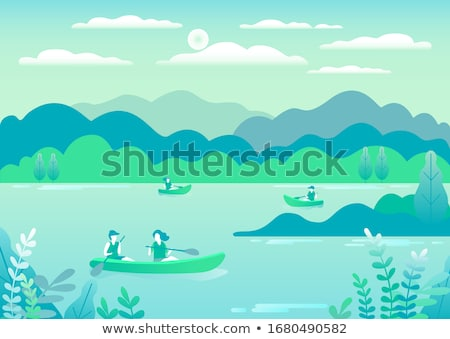 Rowing, sailing in boats as a sport or form of recreation vector Stock photo © cosveta