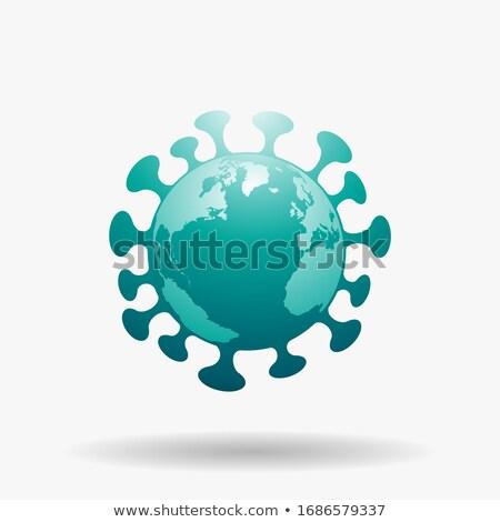 Globe Shaped Green Coronavirus Icon Stock photo © cidepix