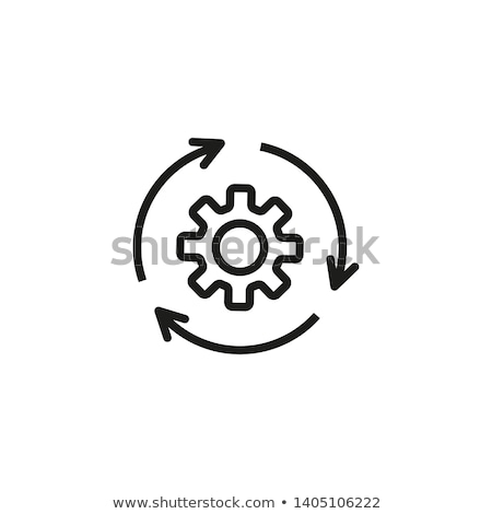 Software procede icon vector schets illustratie Stockfoto © pikepicture