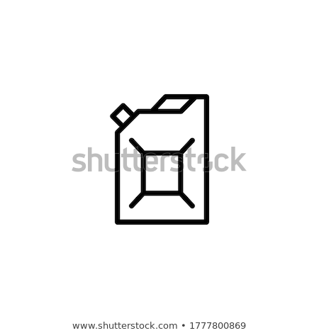 gas cans icon vector outline illustration Stock photo © pikepicture