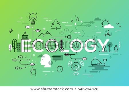Megújuló energia vektor metaforák megújuló erőforrások széf Stock fotó © RAStudio