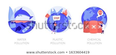 Water pollution vector concept metaphors Stock photo © RAStudio