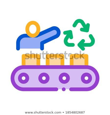 Utasítás környezeti ipar ikon vektor skicc Stock fotó © pikepicture