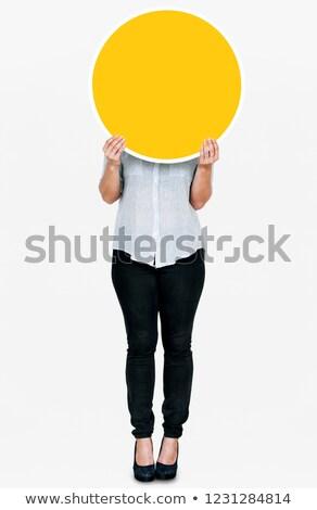 empty round sign stock photo © oneo