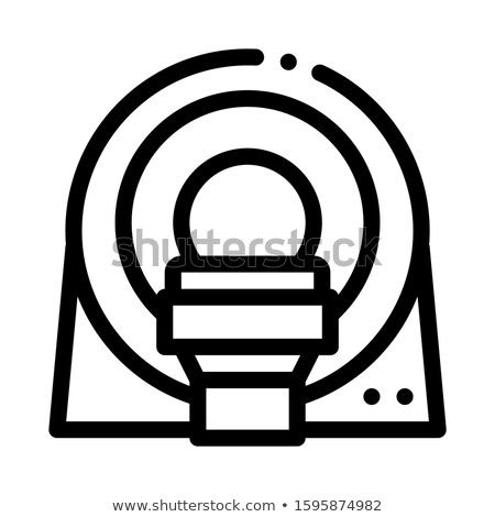 Mri Diagnosis Apparatus Icon Outline Illustration Stock photo © pikepicture