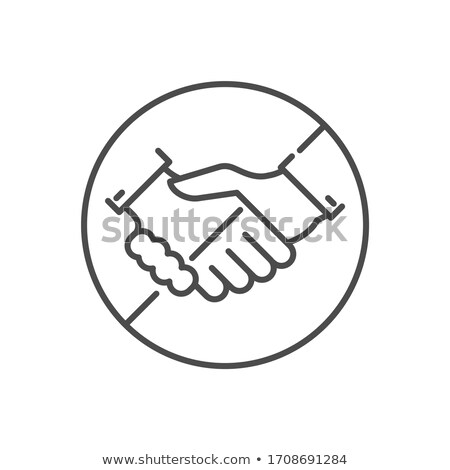 Avoid Contact related vector thin line icon Stock photo © smoki