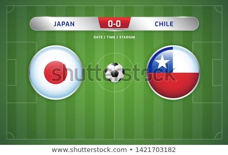 Japán vs Chile futball gyufa illusztráció Stock fotó © olira