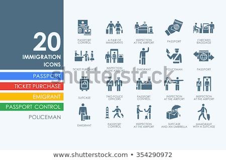 иммиграция беженец коллекция вектора человек Сток-фото © pikepicture