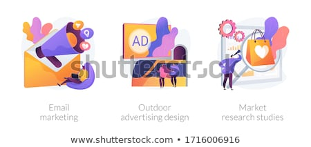 Product marketing campagne abstract vector illustraties Stockfoto © RAStudio