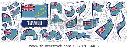 Vetor conjunto bandeira Tuvalu criador Foto stock © butenkow