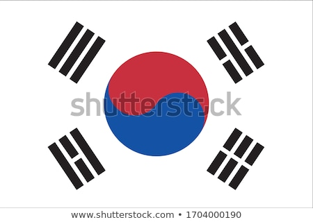 South Korean flag, vector illustration on a white background Stock photo © butenkow