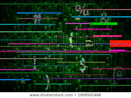Critical error glitch on green matrix symbols Stock photo © evgeny89