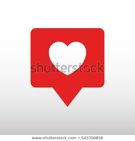 Like social network icon in heart shape on white Stock photo © evgeny89